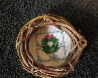 Wreath within a Wreath Christmas Ornament