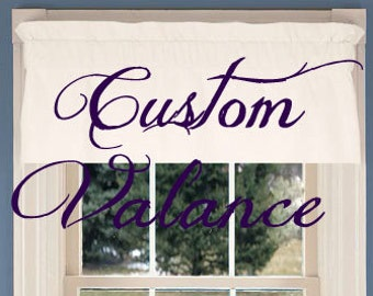 Custom Designed Window Valance