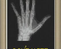 Don't hate, radiate: nerdy x-ray cross-stitch pattern