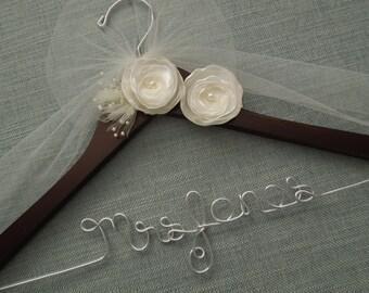 Wedding Hanger, Bridal Hanger, Wedding Dress hanger, Custom Wedding Hanger