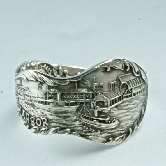 spoon ring sterling silver antique ontario by spoonjewelry