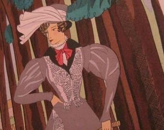 The Equestrienne - L'amazone... The Equestrienne - Guess whom this is from - Rosa Sara (Ro) Keezer: Original Pochoir Fashion Print C1930s