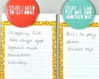 Prioritise your Stuff Magnet Set, get organised or a great gift, stocking filler
