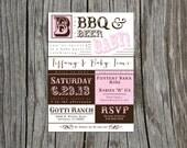 Printable Baby BBQ Invitation