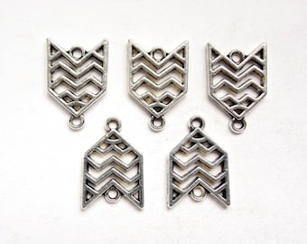 5 Antique Silver Southwestern Style Connectors - 1-AS-13