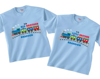 Big Brother Little Brother Train Shirts and T-shirts tees