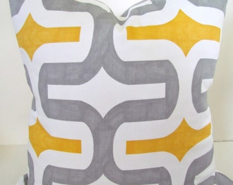 YELLOW PILLOWS Yellow and Gray Pillow Covers Yellow Throw Pillows GRAY Pillow Gray Pillow covers Yellow Pillows 16 18x18 20.All Sizes.