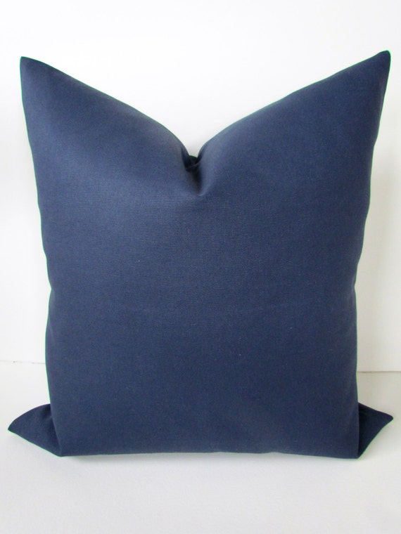 Solid Navy Blue Decorative Pillow : BLUE PILLOW Blue Decorative Pillow Covers by SayItWithPillows