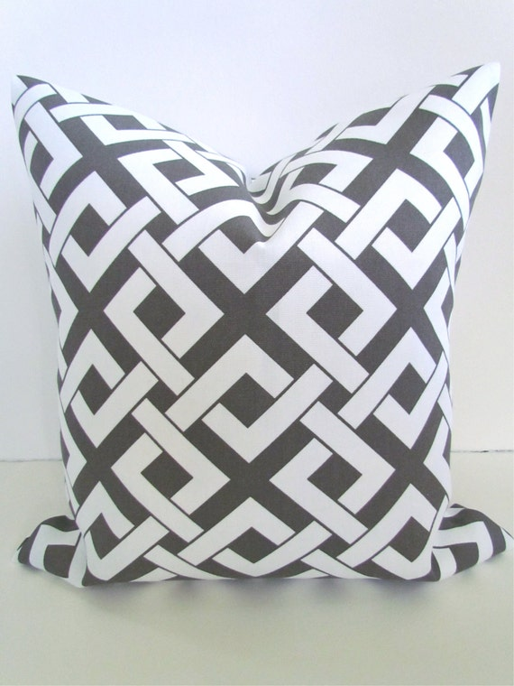 items similar to sale decorative throw pillows 20x20 gray brown throw pillow 20 x 20 grey indoor. Black Bedroom Furniture Sets. Home Design Ideas