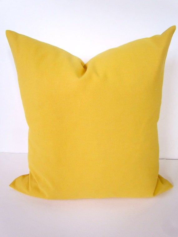 Yellow Pillows Yellow Throw Pillow Covers Solid Yellow Pillow