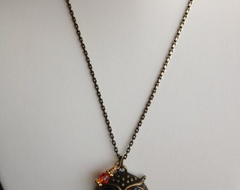 Wise Old Owl Pendant Necklace
