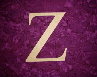 "Greek Letter Z Zeta Symbol Unfinished Wooden Letters 6"" Inch Tall Paintable MDF"