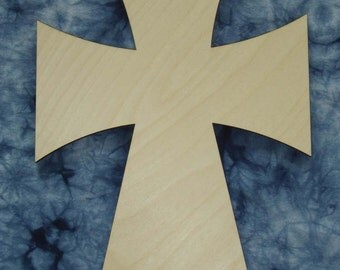 """Unfinished Wood Cross Wooden Craft Crosses Cut Out Stainable Paintable part C24-125    24"""" inch tall"""