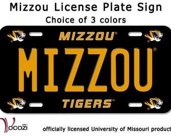 Mizzou Tiger License Plate SIgn             - Missouri Tiger  - Univ of Missour