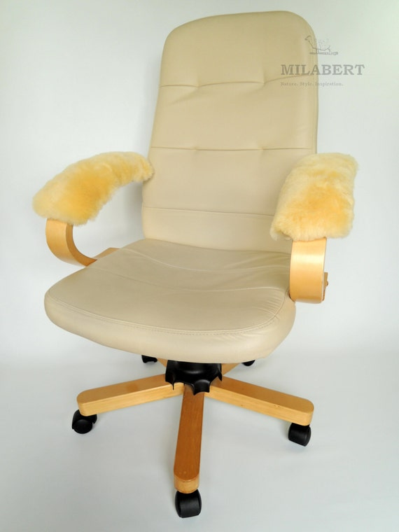 Genuine Medical Sheepskin Armrest Cover Pad For Office Chair