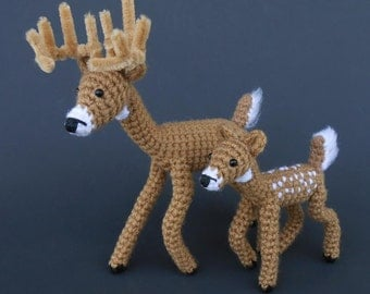 Crochet Deer Head Mount PATTERN by JRPcrochet on Etsy