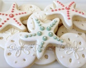 Sand Dollar Starfish Beach Cookies - 1 Dozen