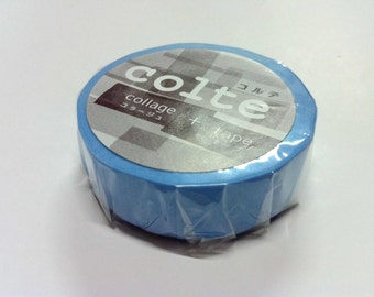 Colte Washi Masking Tape /  Shallow blue / CP027 / 1  rolls