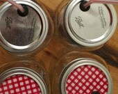4 Mason Jar Party Drink Lids Great for Picnics