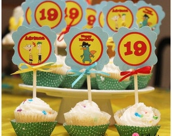 Phineas & Ferb Cupcake Toppers