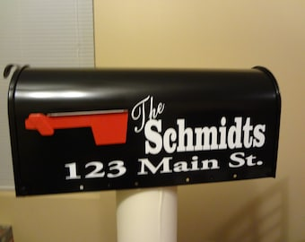 Custom Mail Box Decal Personalized 2 Sides Front Your Name & Address Numbers House Warming Party Gift Name Sticker