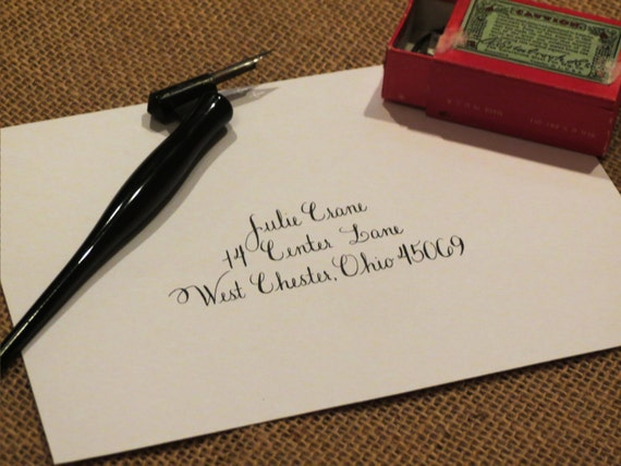 Custom Wedding Envelope Calligraphy