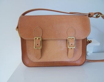 Sweet Honey -- Hand stitched Messager Bag