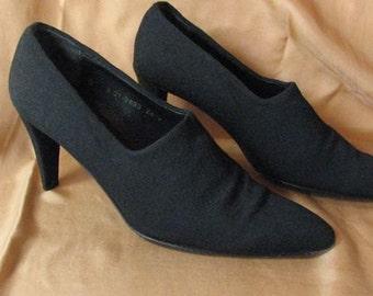Robert Clerigis 1990s Black Fabric Heels.........size 6B