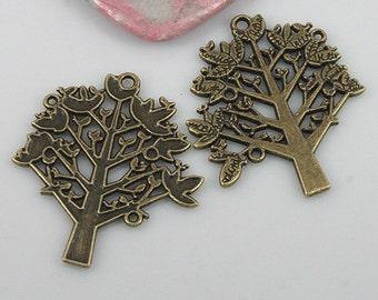 8pcs antiqued bronze color tree charms EF0553
