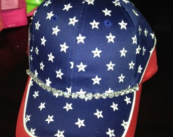 Happy 4th of july bling hat