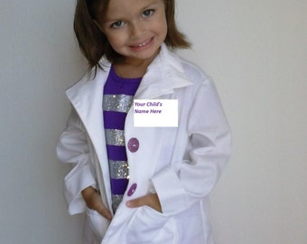Doc Costume and Outfit- 5 pcs - Doctor's coat, Shirt, Skirt, Leggings and Headband