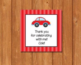 Transportation Cars Gift Tags KBI285GT Square Favor Tags, Editable and Printable-PDF Files, Instant Download