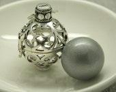 Harmony Cage with Silver Bola Ball Pendant & Necklace Pregnancy Maternity Mexican Expectant Mother Lily