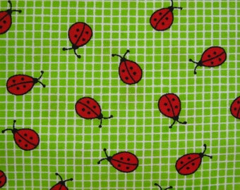 Destash Cotton Fabric - Lady Bugs