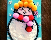 3d whipped cream Christmas snow man iPhone 4S,iPhone 5,Samsung galaxy S3,HTC one,HTC one x phone case