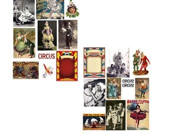 Circus Circus Digital Collage Set