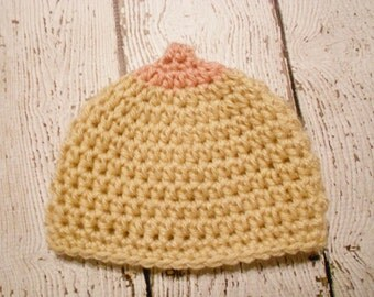 Crochet Baby Breastfeeding Beanie-Newborn to 12 months