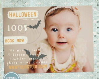 INSTANT DOWNLOAD Halloween, Thanksgiving /Autumn Mini Session Marketing Board Template for Photographers - Photography Marketing