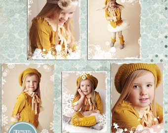 INSTAND DOWNLOAD - Photo Overlays, Snowflake Overlays, Christmas Overlays, Photoshop