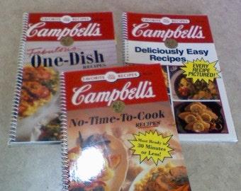 Set of  3 Campbells cookbooks