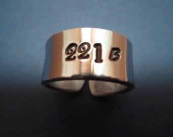 221 Baker street ring – Sherlock Holmes inspired