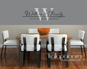 Family Name Monogram - Family Room Wall Decal - Family wall decal - Family Room Decal - Personalized Family Decal - Wall decal - wall decor