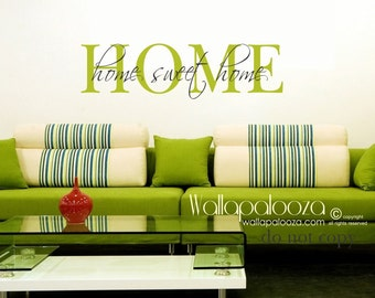 Home sweet home wall decal - Home wall decal - Family Wall Decal - Family Room Wall Decal - family decor - family wall decor - family decal