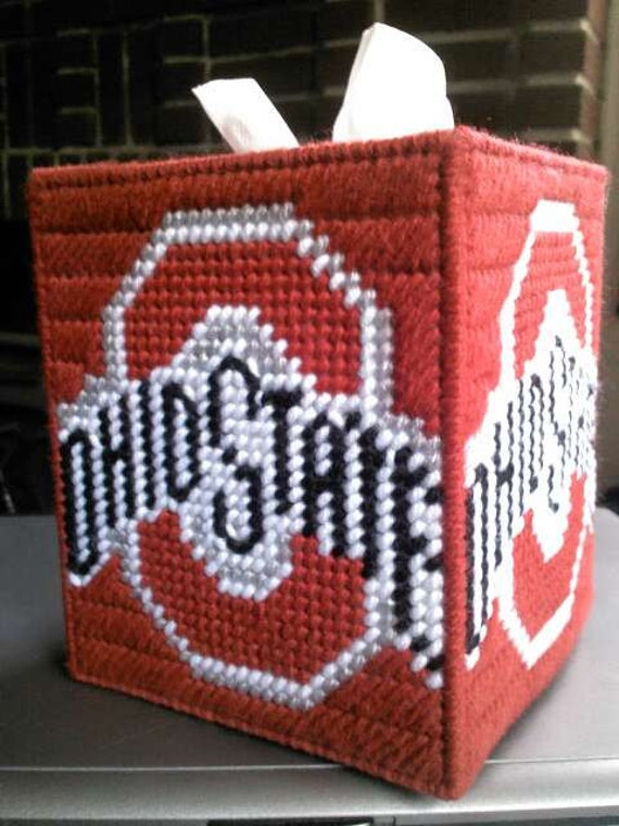 Ohio State Buckeyes Tissue Box Cover