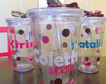 Personalized  Tumbler Flourish