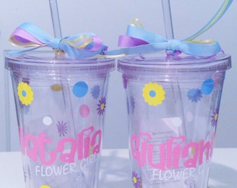 Personalized Tumbler Flower Girl