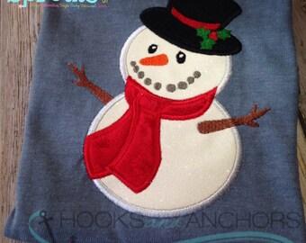 Snowman Applique Instant Download