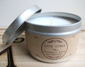 Love Spell Scented // 8 oz. Natural USA Grown Soy Candle