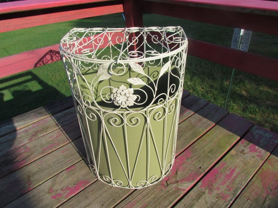 Antique Vintage Florentine Shabby Wrought Iron By