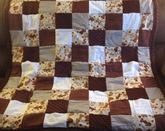 Cartoon Sketched Dogs, Bones, and Paws Lap Quilt
